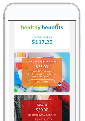 Healthy Benefits+ mobile app screen